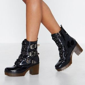 Buckled PVC Boots